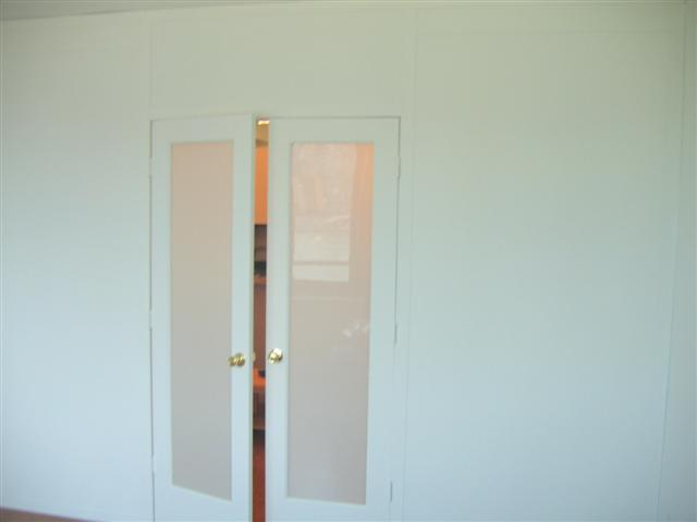 Double Frosted Glass Doors