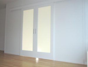 Sliding Frosted Glass Doors